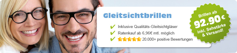 Gleitsichtbrillen - Damen - Kunststoff - L (134 - 140mm Breite) - Retro