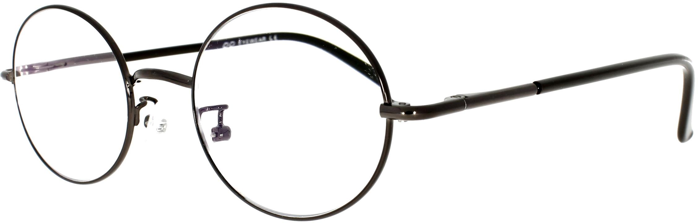 Panto-Arbeitsplatzbrille aus Metall in Braun