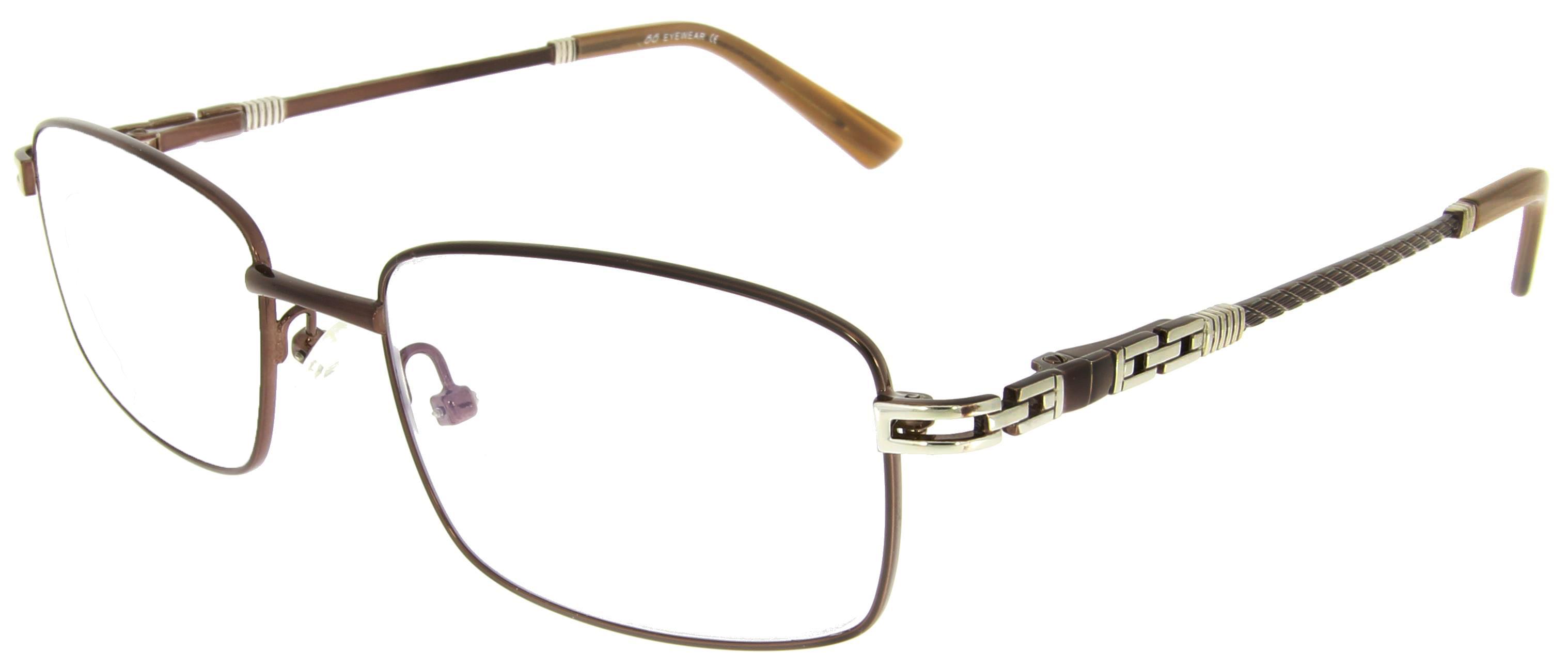 Braune Arbeitsplatzvollrandbrille aus Metall