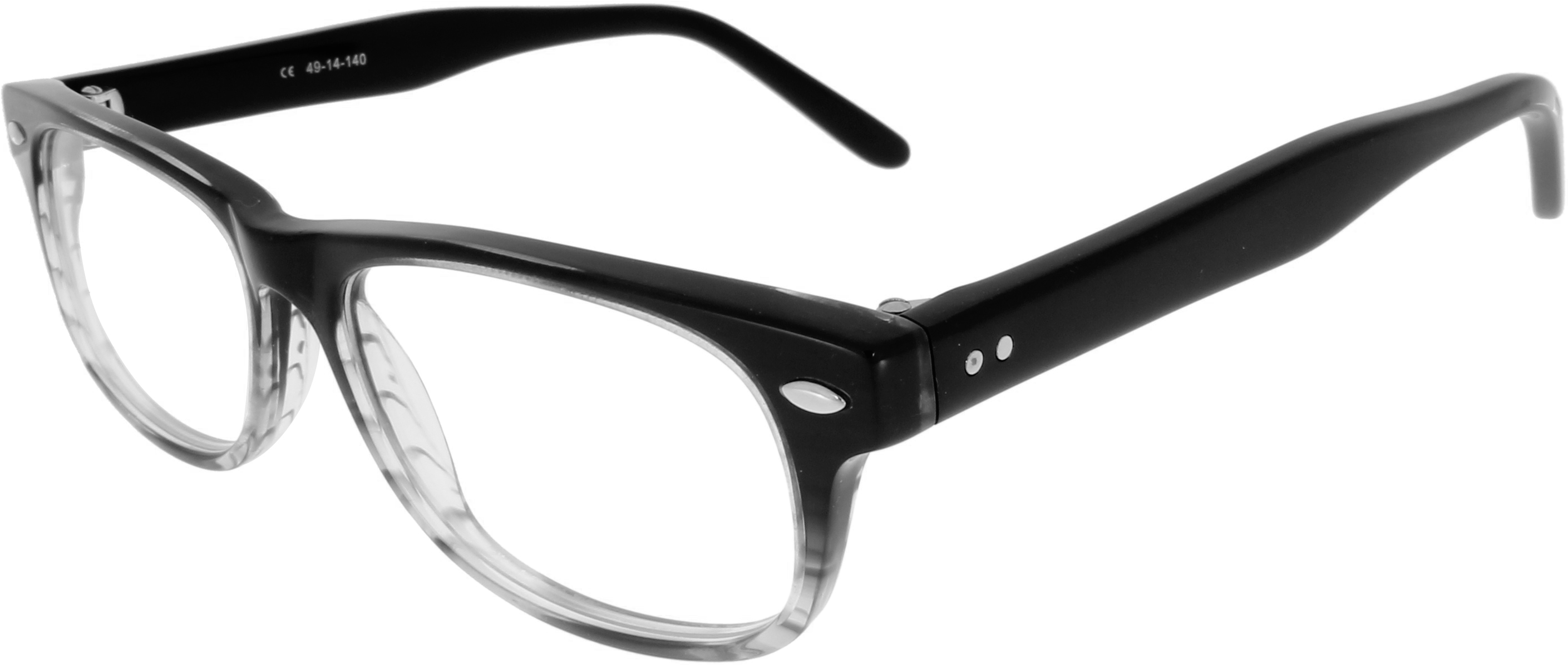 Two-Tone Brille mit Farbverlauf und Details