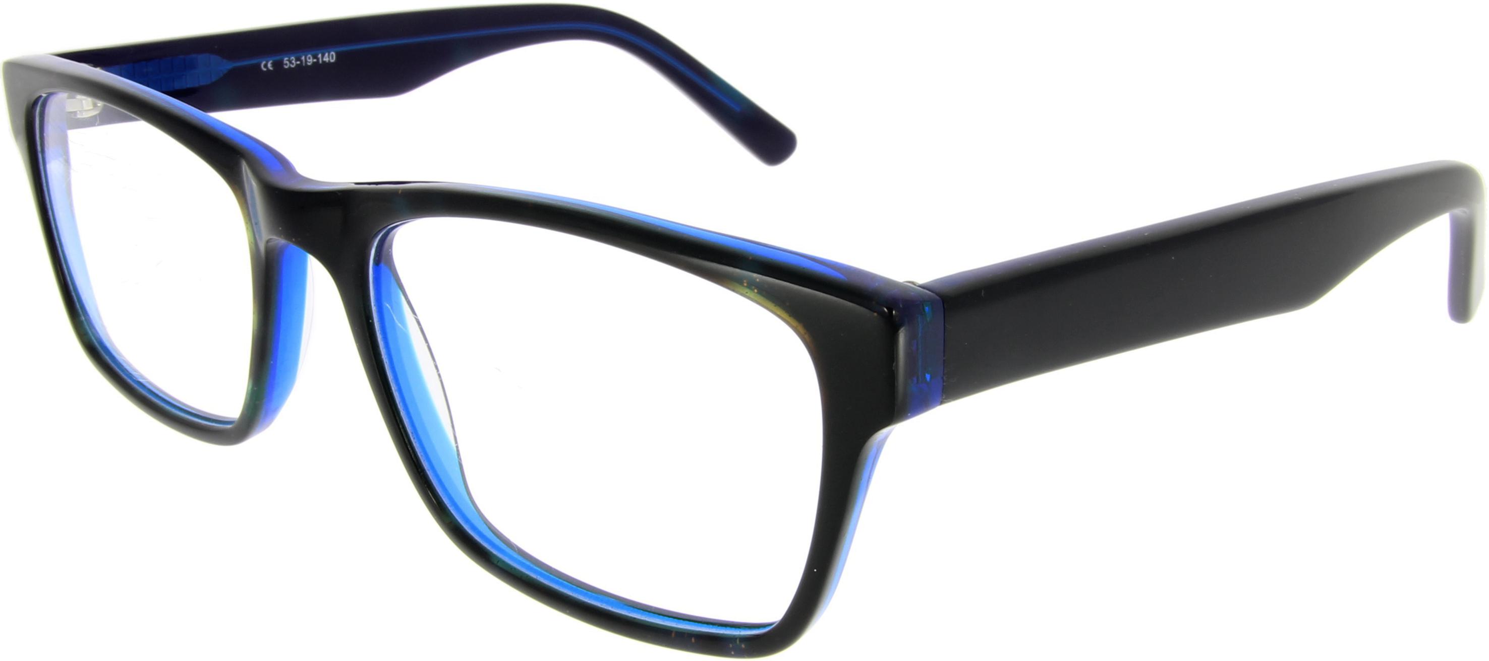 Vorschaubild von Schwarzblaue Brille mit Glitzerpartikeln