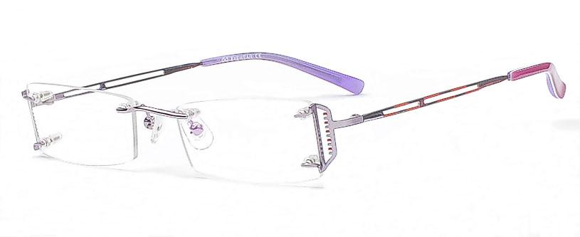 Vorschaubild von Randlose Damen Brille - Dezente Brillen Bügel