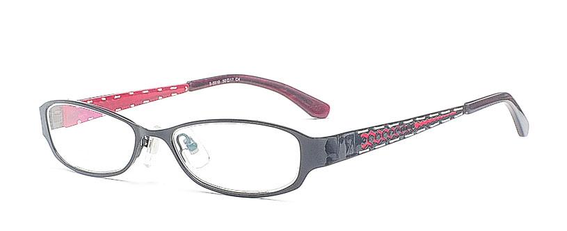 Ovale Damen Brille in Rot Schwarz