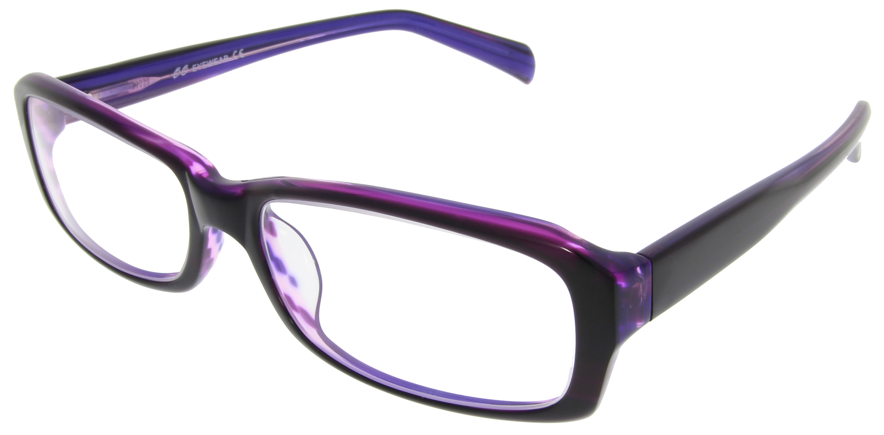 Trendy Damen Fashion Brille in Dunkel-Lila