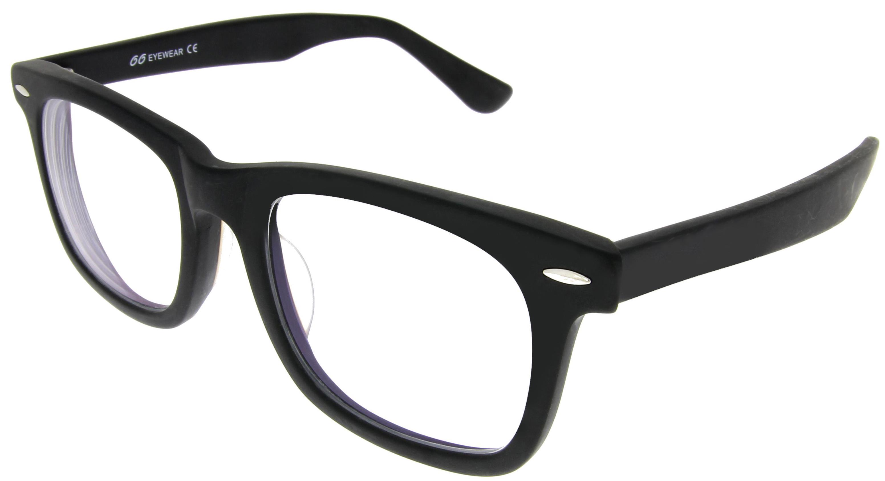Mattschwarze Brille im Wayfarer-Stil