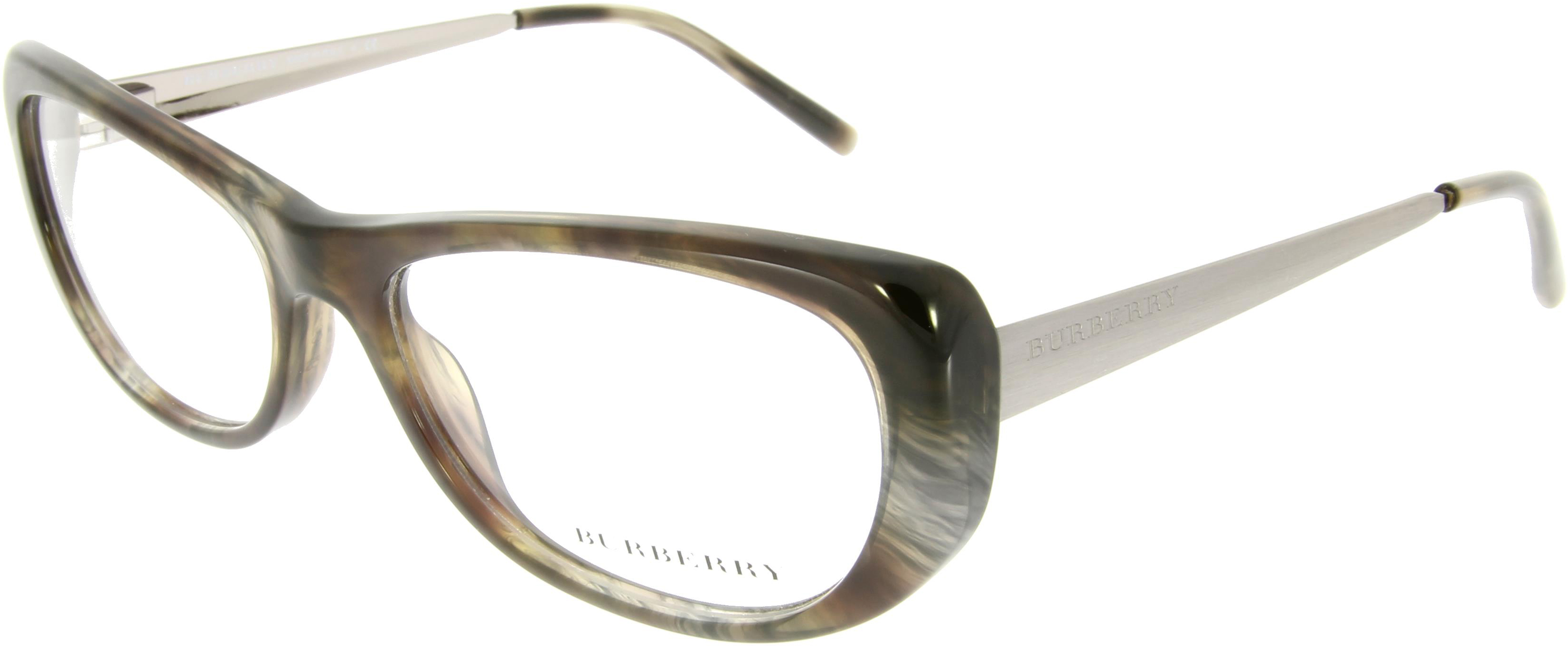 Burberry Brille Grau-Braun aus Kunststoff / Metall