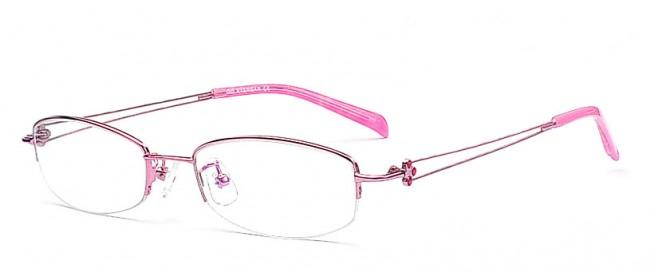 Halbrand Brillenmodell in Pink