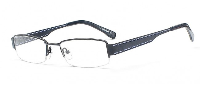 Stylische schwarze Fashion Brille