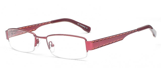 Dunkelrote Damen Fashion Brille