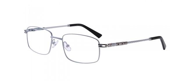 Weiße Gleitsichtvollrandbrille aus Metall
