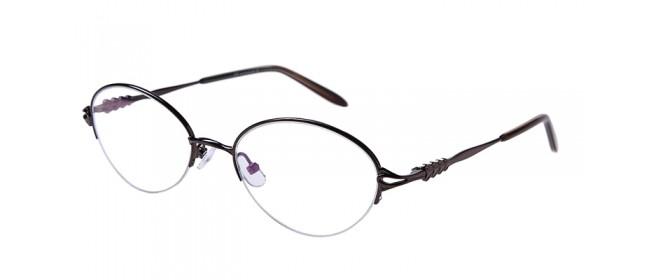 Graue Gleisicht-Halbrandbrille aus Metall