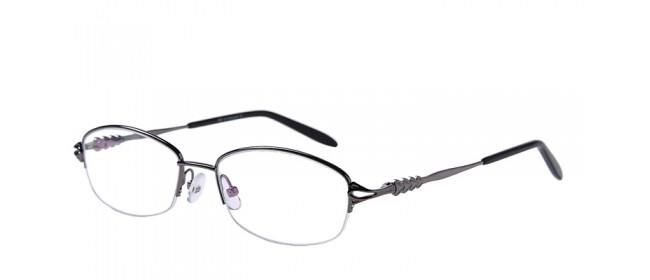 Halbrand Gleitsichtbrille aus Metall in Grau