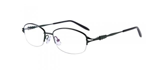 Halbrand Gleitsichtbrille aus Metall in Grün
