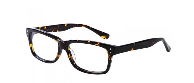 Große Nerd-Gleitsichbrille aus Kunststoff in Nussbraun