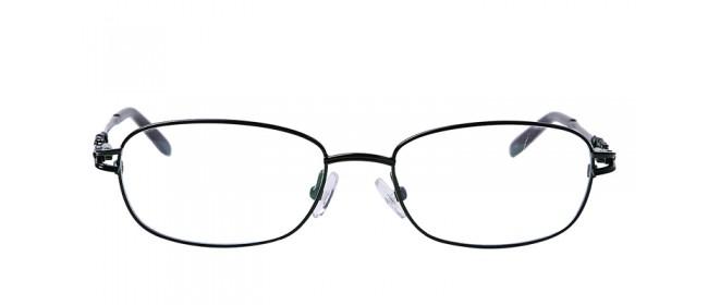 Vollrandbrille in Dunkelgrün - erstklassige Bügel