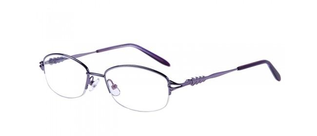 Halbrandbrille aus Metall in Lila