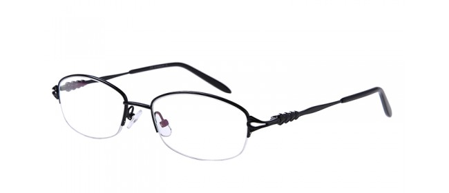 Schwarze Halbrandbrille für Damen und Herren