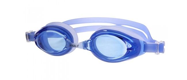 Blaue Schwimmbrille für Wassersport