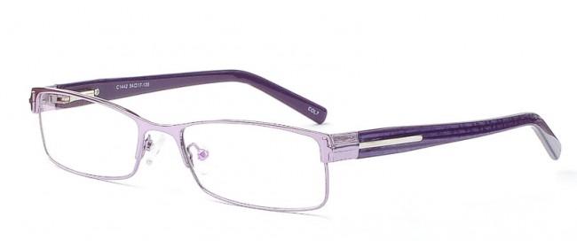Damen Vollrandbrille - Bügel im Lilaton