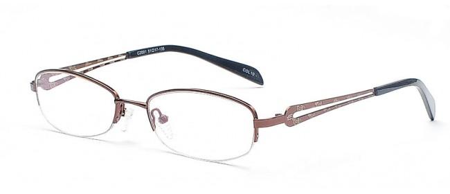 Halbrandbrille mit weißem Muster