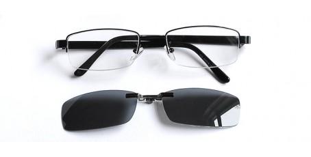 Gleitsichtbrille für den Herren mit Sonnenclip