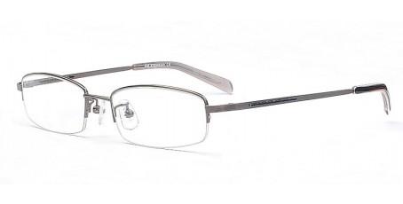 Graue Halbrandbrille - Schmale elegante Bügel