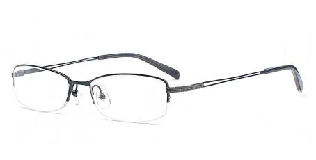 Schwarze Halbrandbrille - Schmal geformt