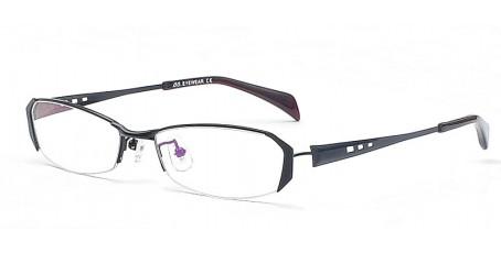 Brille - Schwarzes Halbrandmodell - Markante Brillenfassung