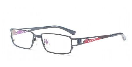 Exklusive Metallbrille - Brille - Rot & Schwarz Design
