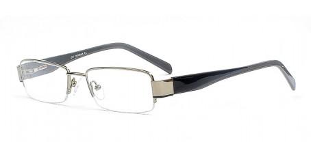 Zeitlose graue Halbrandbrille - Geschwungene Bügel