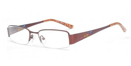 Halbrandbrille in einem wunderschönen Braun-Ton