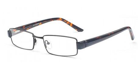 Schwarze Vollrandbrille - Leuchtende Farbtupfer