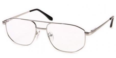 Weiße Pilotenbrille für Männer
