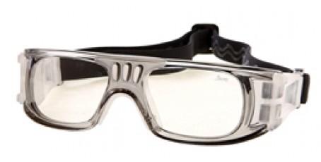 Graue Sportbrille mit Polykarbonat