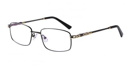 Graue Gleitsichtvollrandbrille aus Metall
