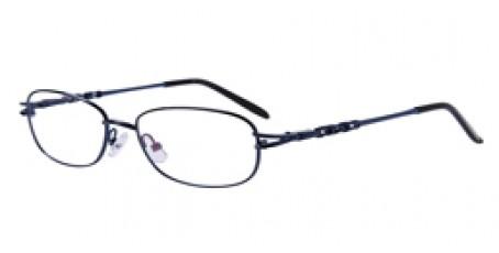 Damen und Herren Vollrandbrille - edles Blau