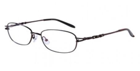 Braune Vollrandbrille aus Metall mit Federscharnier