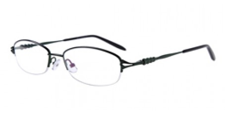 Halbrandbrille aus Metall in Dunkelgrün