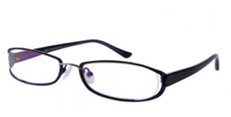 Vollrandbrille in Blau und Weiß aus Metall und Kunststoff