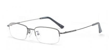 Graue Halbrandbrille aus Metall