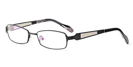 Elegante schwarze Vollrandbrille aus Metall