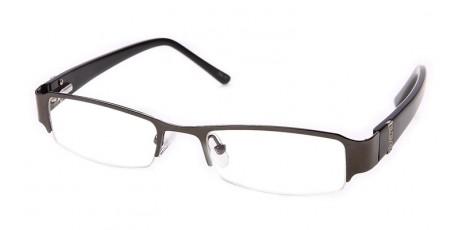 Graue Halbrandbrille für Business oder Freizeit