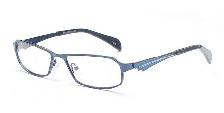 Blaue Vollrandbrille - Schön geformte Brillenfassung
