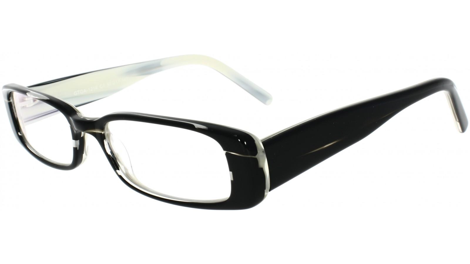 Gemusterte Damenbrille aus Kunststoff in Schwarz-Weiß