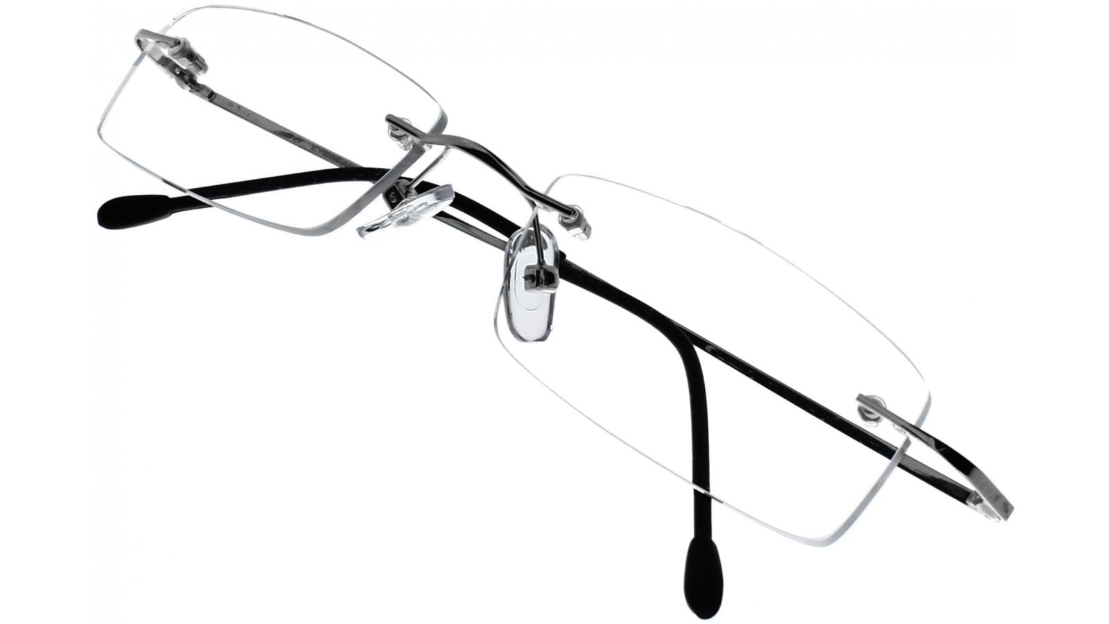 Edle randlose Brillenfassung in Silber