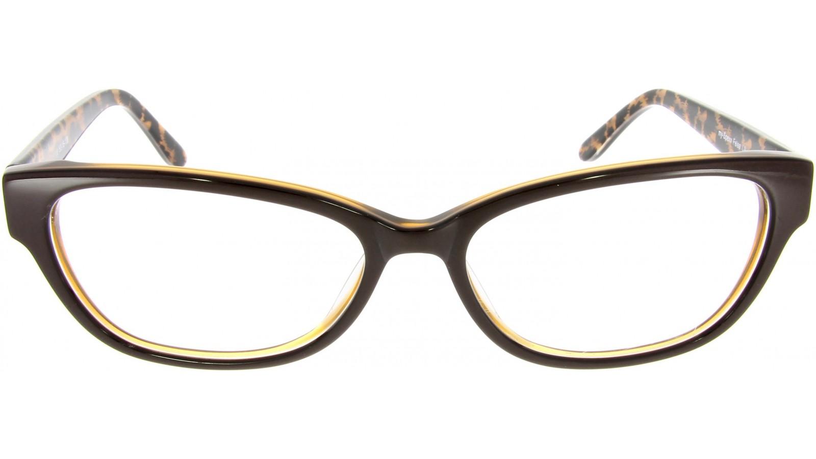 Kaffeebraune Damenbrille mit Leopardenmuster