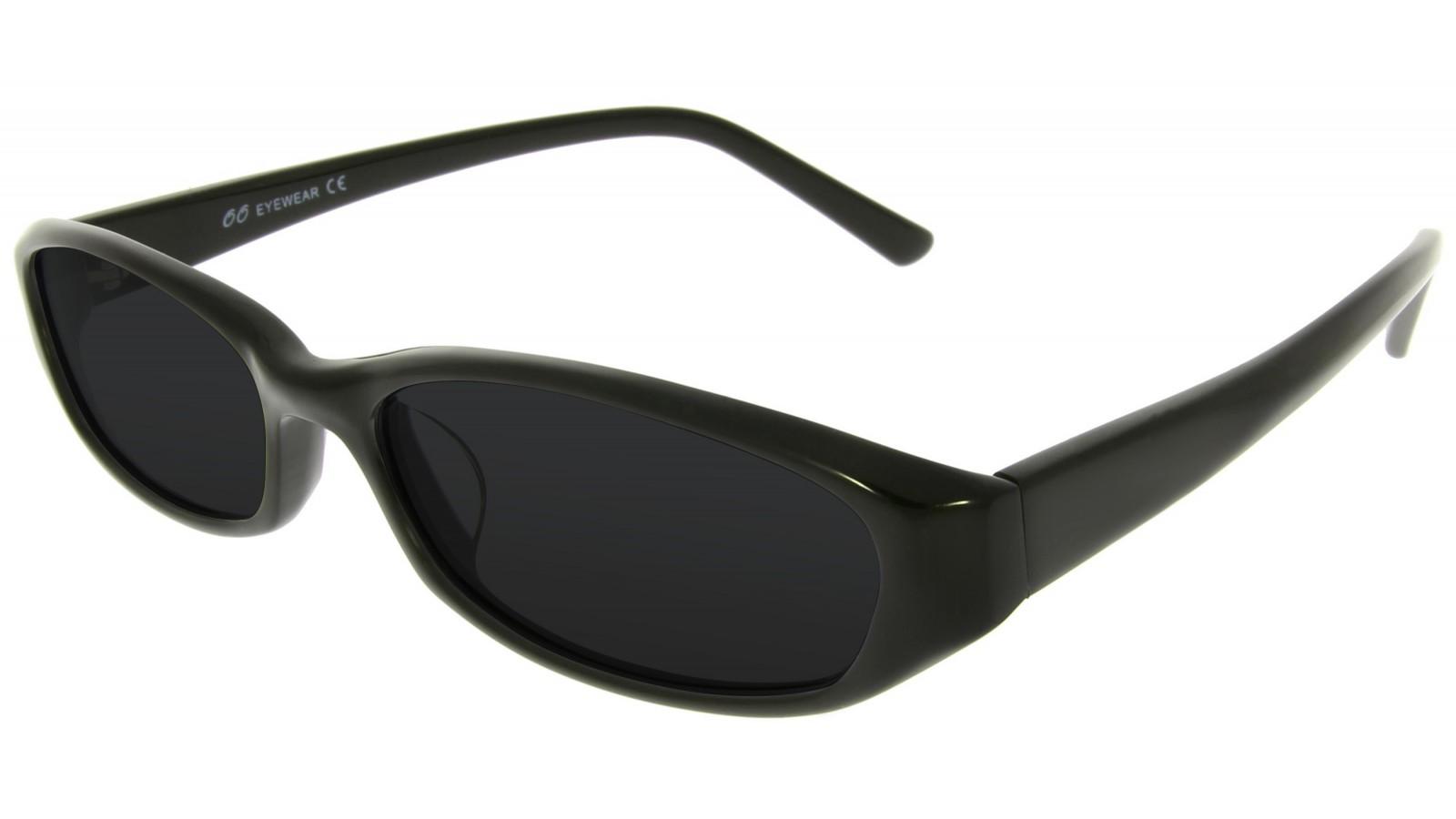 Retro Sonnenbrille mit dickem schwarzen Rahmen