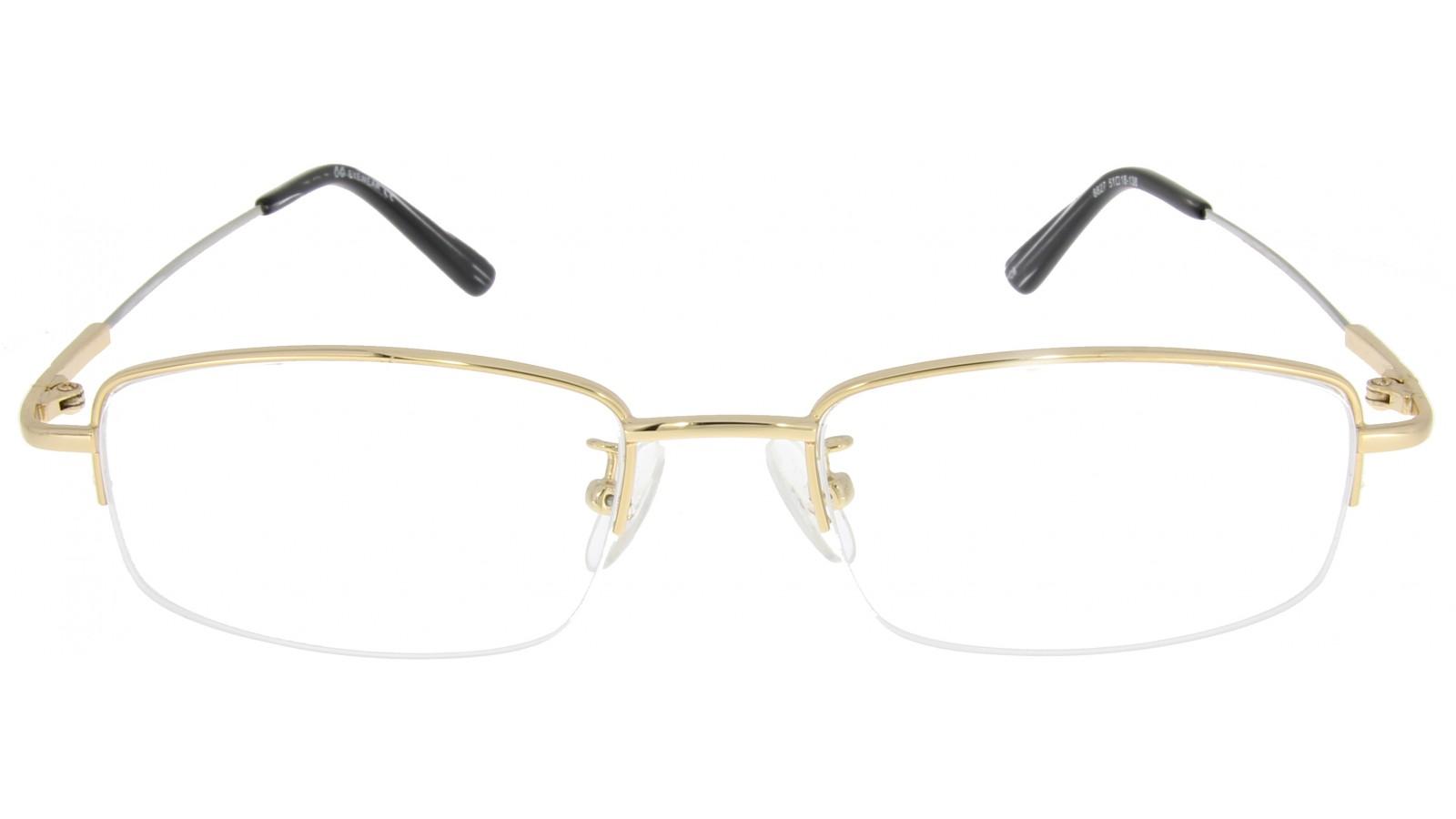 Halbrandbrille aus Metall - Flexible Brillenbügel