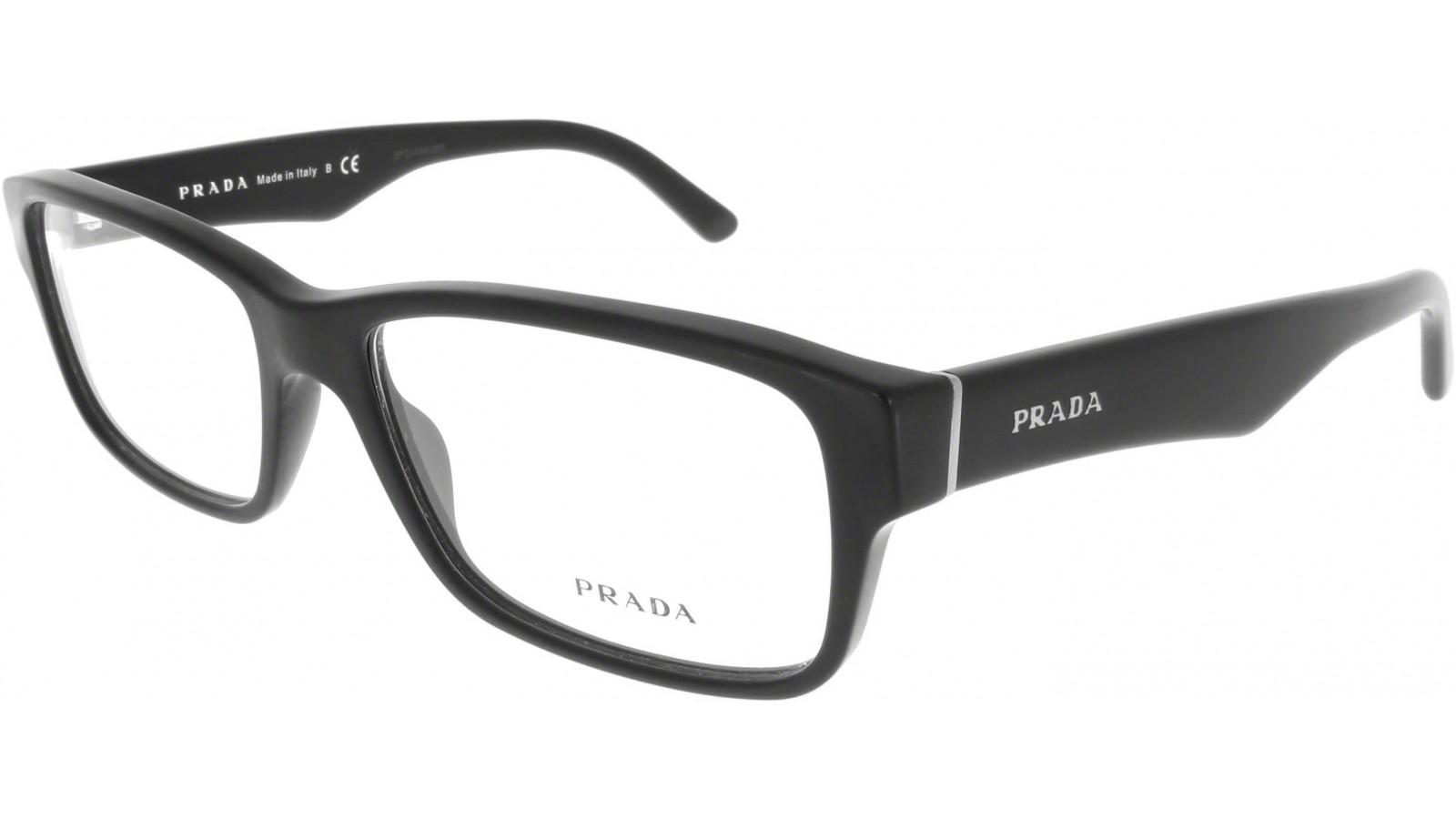 Prada schwarze Unisex Brille PR 16MC 1BO 55