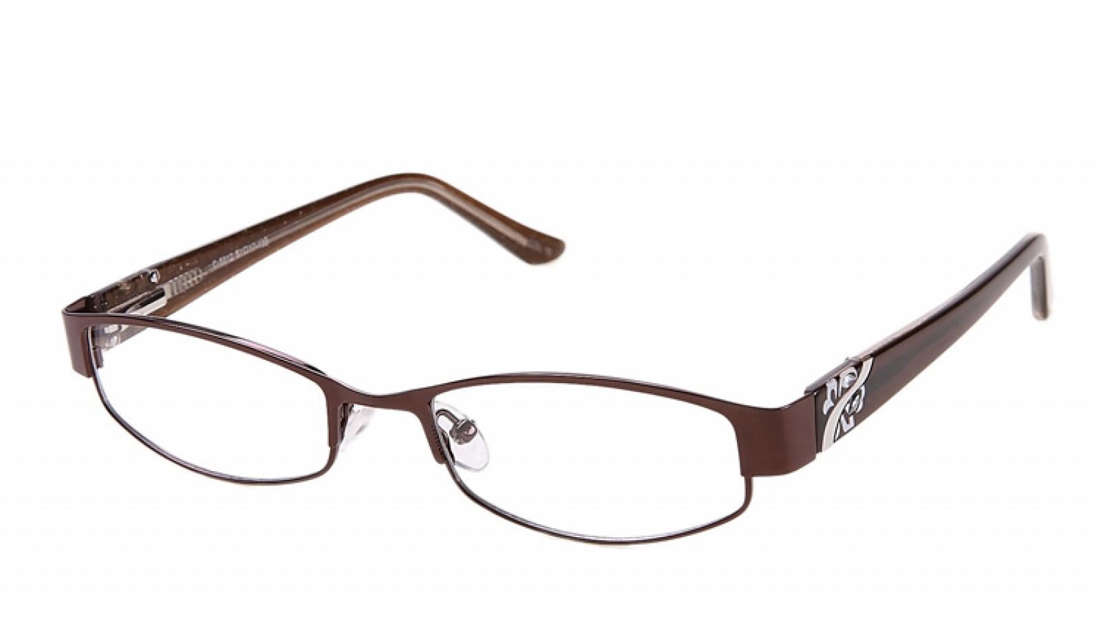 braune damen vollrandbrille mit strasssteinen. Black Bedroom Furniture Sets. Home Design Ideas